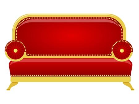 red couch: Illustrazione vettoriale di un divano rosso