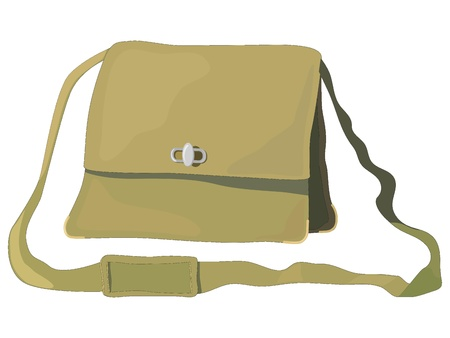 Vector illustration of old bag Vector