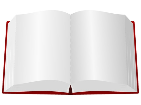 open diary: An open book in the red cover Illustration