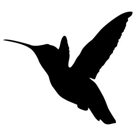 Silhouette of a hummingbird Vector