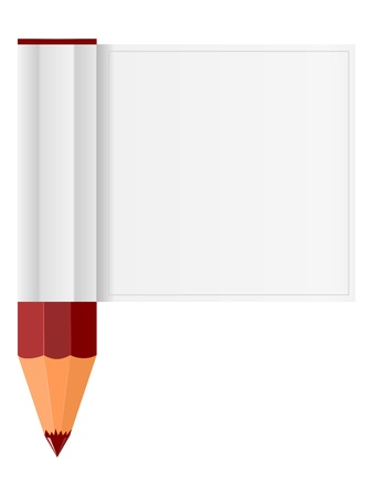 Pencil and piece Vector