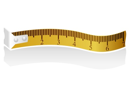 measuring tape: illustration of a measuring tape