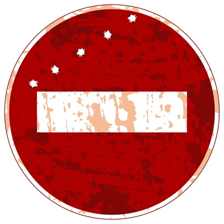 sign ban travel with bullet holes Stock Vector - 12870203