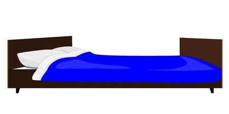illustration of the bed Vector
