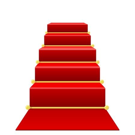 escalera: Escalera con alfombra roja