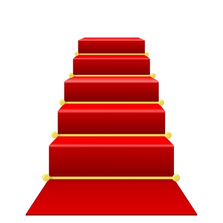 Staircase with red carpet Stock Vector - 12870193