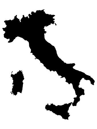 flaga włoch: ilustracji z mapy Włoch