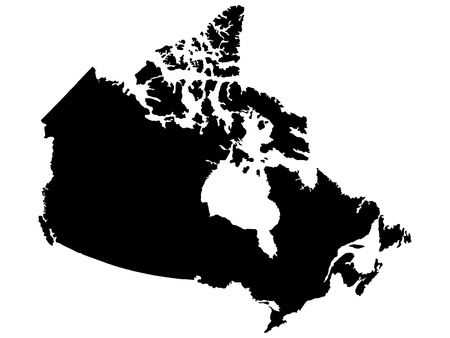 illustration of maps of Canada  Vector
