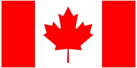 illustration of the flag of  Canada  Vector