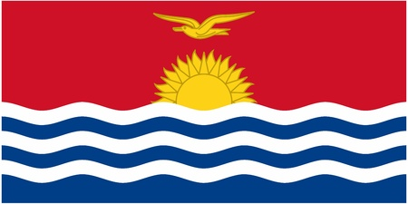 illustration of the flag of  Kiribati  Vector