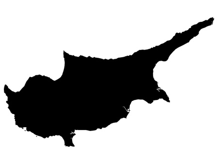 illustration of maps of Cyprus  Vector