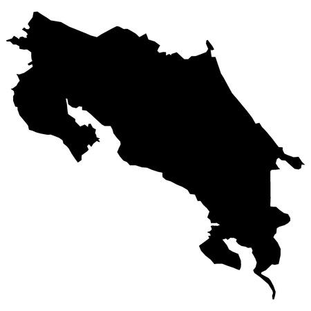 illustration of maps of  Costa Rica