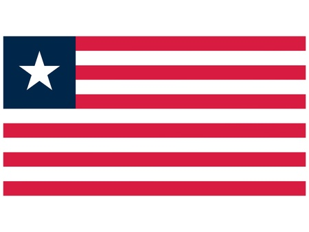 illustration of the flag of Liberia   Vector