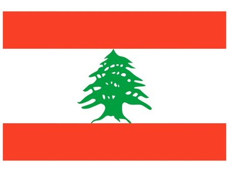 illustration of the flag of Lebanon   Vector