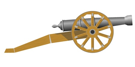 An old cannon Vector