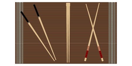 Set of chopsticks for sushi  Vector
