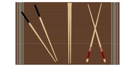 thailand food: Set of chopsticks for sushi