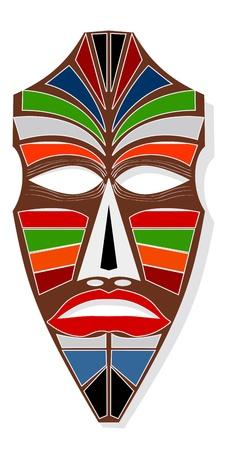 maschera tribale: La maschera africana Vettoriali