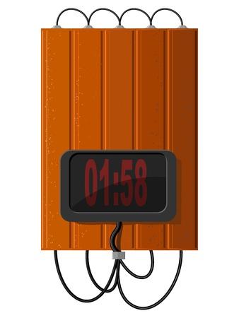 explosive watch: Time bomb  Illustration