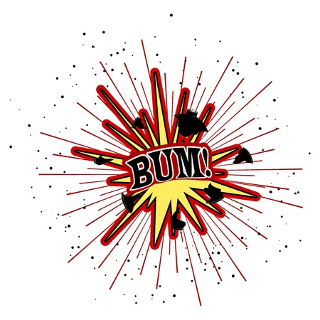kaboom: Vector illustration of an explosion