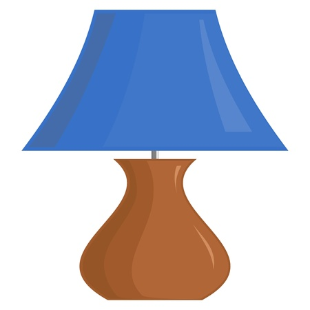 bedroom interior:  image of the lamp shade