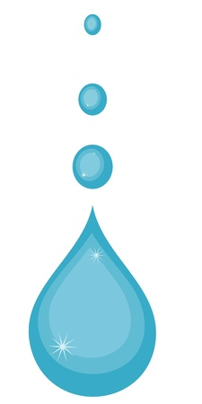 illustration of water drops Stock Vector - 12870225