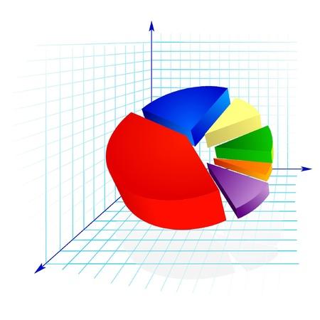 The color diagram with arrows Stock Vector - 12976403