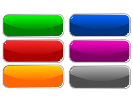 rectangle button: Web shiny buttons illustration