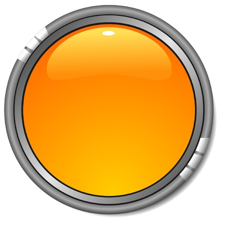 Illustration glossy yellow   button Stock Vector - 12976358