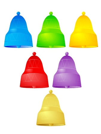 Illustration color handbells  Vector