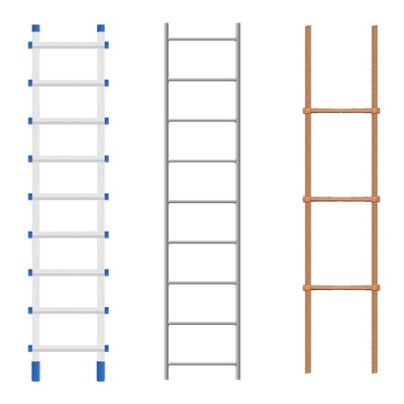 climbing stairs: Set ladders Illustration