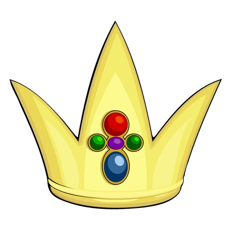 Cartoon  illustration of the royal crown