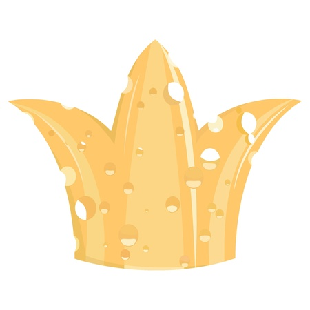 Illustration of the crown of cheese Vector
