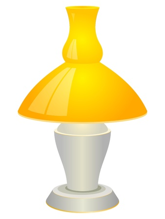 Illustration of a table lamp. EPS10 Vector