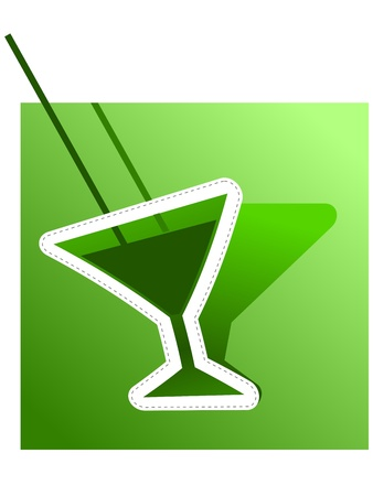 bstract: �bstract image of absinthe. Vector Illustration