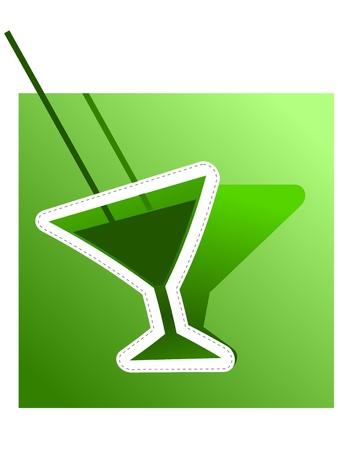 ajenjo: bstract la imagen de la absenta. Vector Vectores