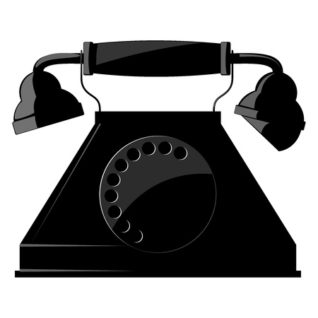 Illustration of the old phone. vector Vector