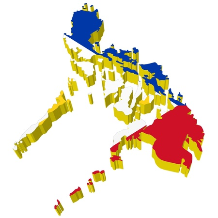 philippines map: vectors 3D map of Philippines