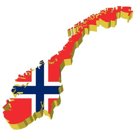 vectors 3D map of Norway  Vector