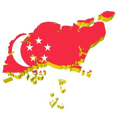 vectors 3D map of Singapore