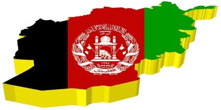 vectors 3D map of Afghanistan Stock Vector - 13278335