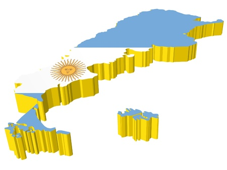 vectors 3D map of Argentina  Vector