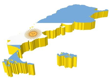 vectors 3D map of Argentina Stock Vector - 13278328