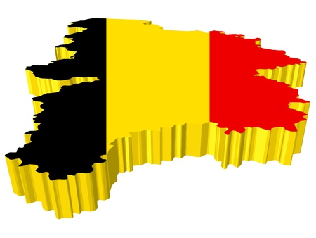 vectors 3D map of Belgium Stock Vector - 13278300