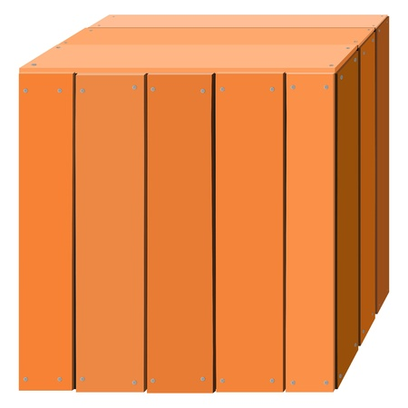 Illustration of a wooden box Stock Vector - 13277696