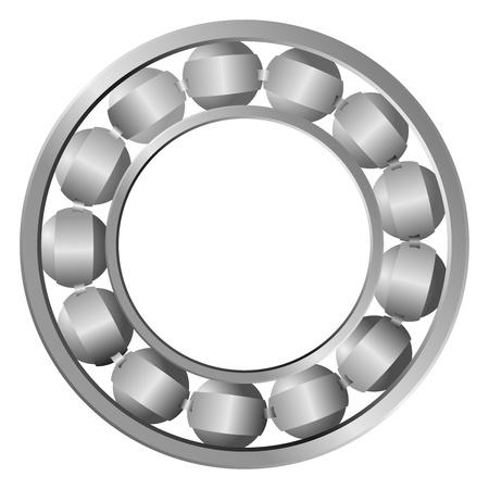 ベアリング: 鋼軸受  イラスト・ベクター素材