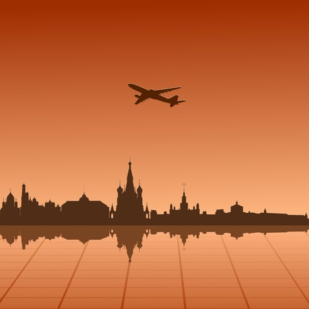 Vector illustration of urban landscape of Moscow Vector