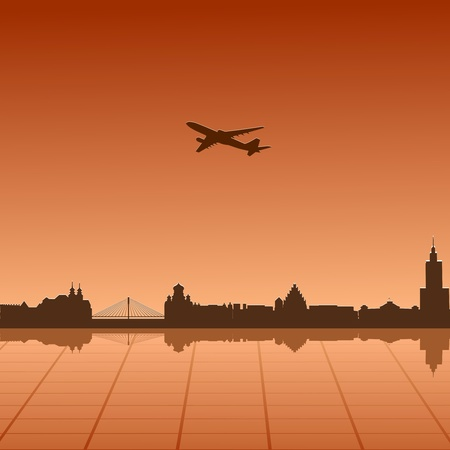 Vector illustration of urban landscape of Warsaw Vector