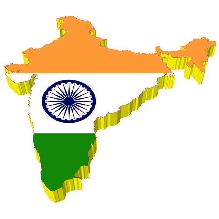 map of india: vectors 3D map of India