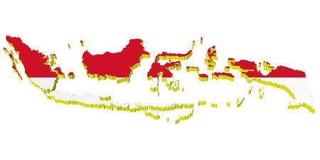 vectors 3D map of Indonesia  Vector